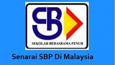Senarai SBP Sekolah Berasrama Penuh Di Malaysia