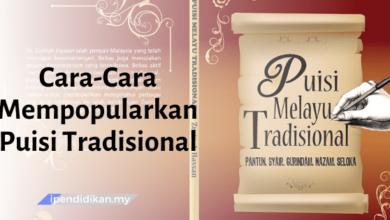 contoh karangan cara mempopularkan puisi tradisional dalam kalangan masyarakat