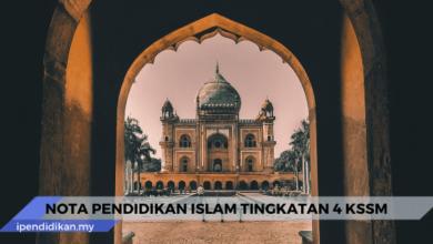 nota pendidikan islam tingkatan 4 kssm