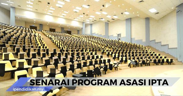 senarai program asasi IPTA
