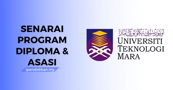 senarai program diploma asasi uitm