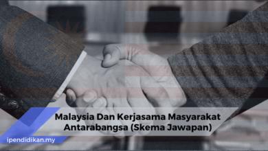 skema jawapan malaysia dan kerjasama masyarakat antarabangsa