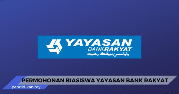 Permohonan Biasiswa Yayasan Bank Rakyat 2020 Online Ybr
