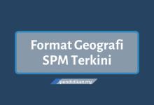 format geografi spm terkini
