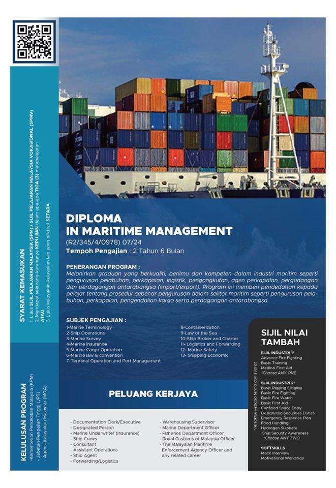 iklan diploma pengurusan maritim reti 2020