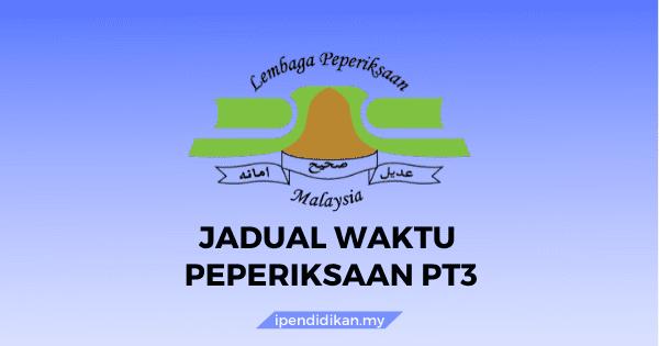 jadual waktu peperiksaan pt3