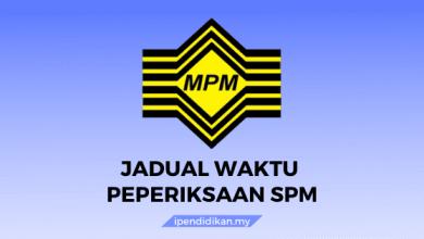 jadual waktu spm 1
