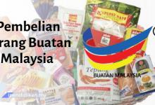 karangan pembelian barang buatan malaysia