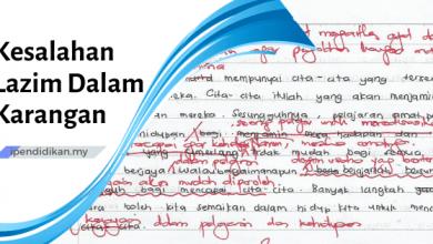 kesalahan lazim dalam karangan