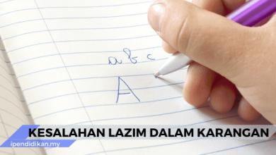 kesalahan lazim dalam karangan bm