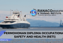 permohonan diploma occupational safety and health reti