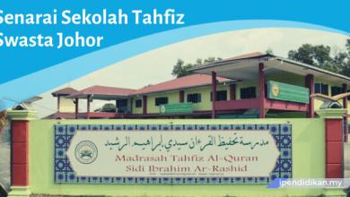 sekolah tahfiz swasta johor