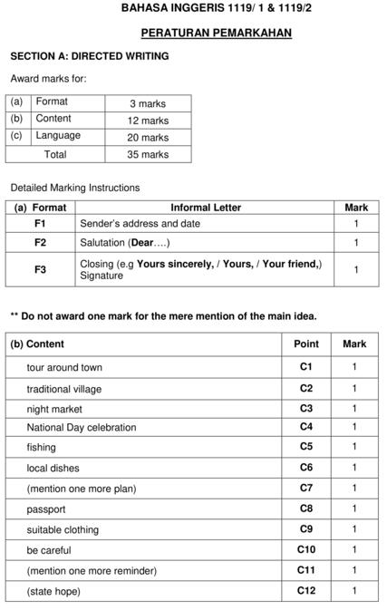 skema markah bi esei 1